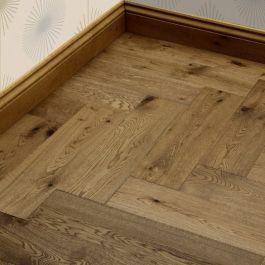 Engineered Wood Flooring Click Herringbone Smoked Brushed