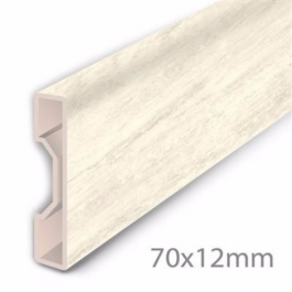 Aqua Step Skirting Board Travertine White Lfdirect
