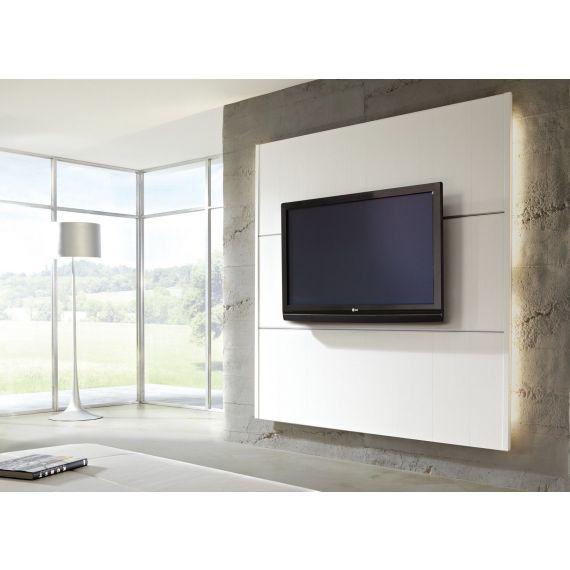 Cinewall TV Wall Furniture White Light Set