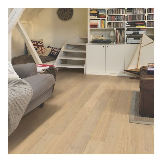 Quick-Step Parquet Compact Oak Cotton White Matt