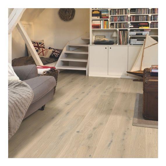 Quick-Step Flooring Parquet Compact Oak Himalayan White Extra Matt