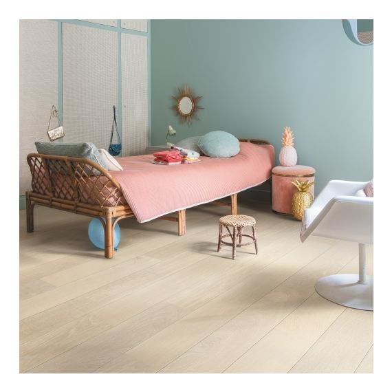 Quick-Step Flooring Parquet Castello Snow White Oak Extra Matt