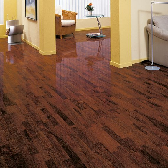 Elesgo High Gloss Shiny Life Merbau Classic HDM Laminate Flooring