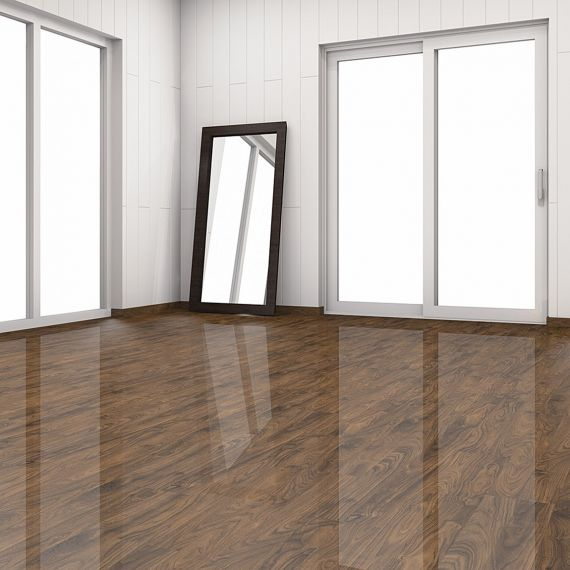 High Gloss Glamour Life Black Walnut Elesgo Laminate Flooring