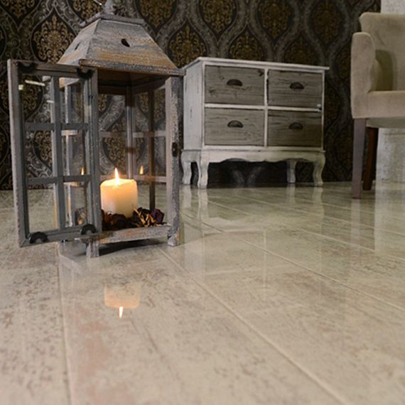 High Gloss Glamour Life Antique White Elesgo Laminate Flooring