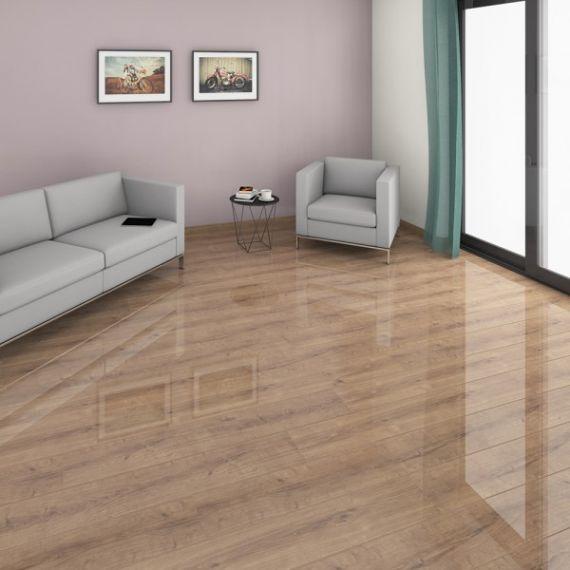 Supergloss Glamour Life Amber Oak Laminate Flooring