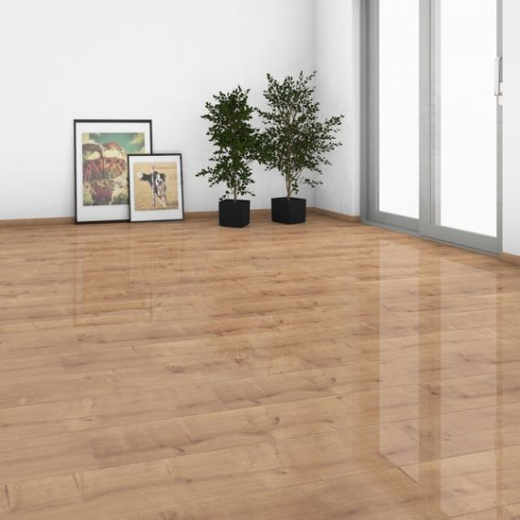Elesgo High Gloss Glamour Life Oriental Oak HDM Laminate Flooring