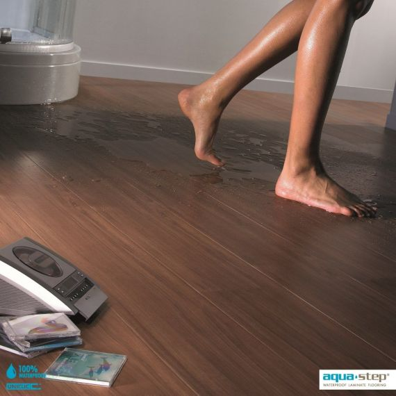 Aqua-Step Chambord Walnut Wood V4 Waterproof Laminate Flooring