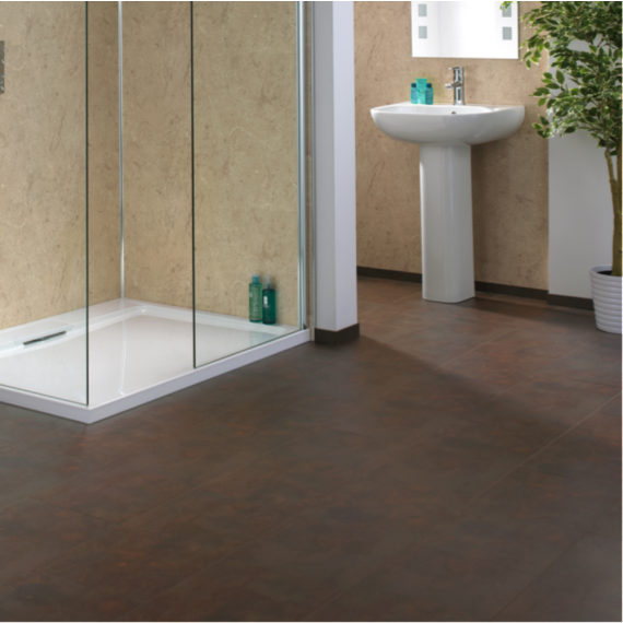 Aqua-Step Copper Loft Waterproof Laminate Flooring V4 Tiles