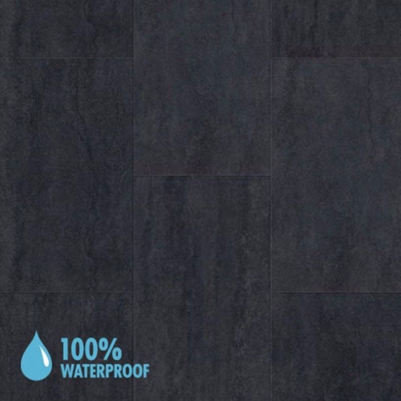 Aqua-Step Mini Tiles Travertine Anthracite Brush Finish R10 V4 Waterproof Laminate Flooring