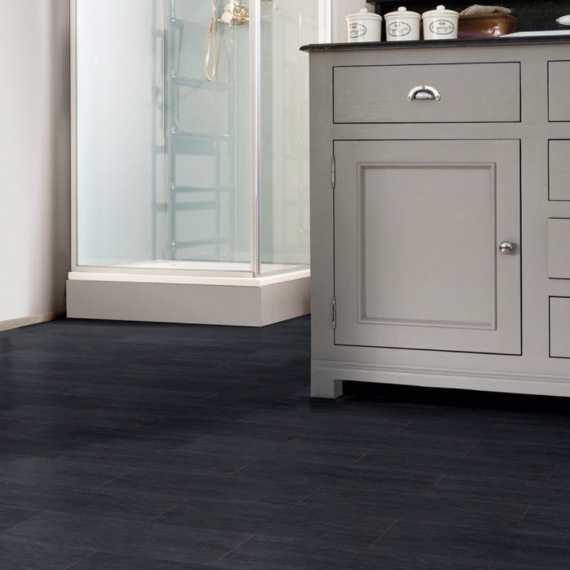 Aqua-Step Travertine Anthracite Mini Tile V4 100% Waterproof Laminate Flooring