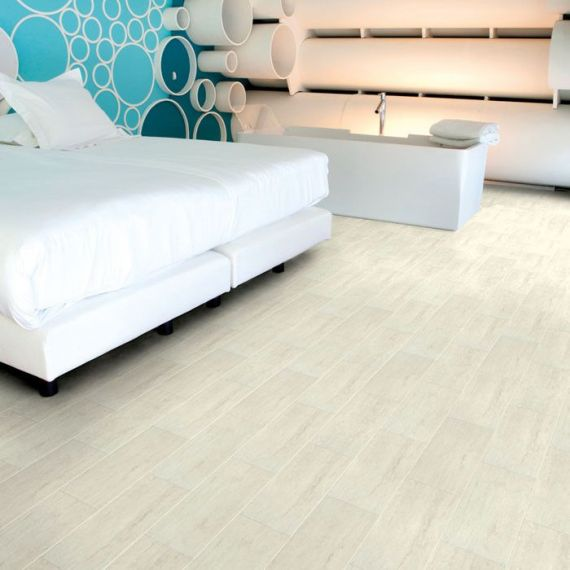 Aqua-Step Travertine White Mini Tile V4 Waterproof Laminate Flooring