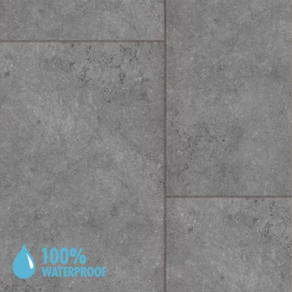 Aqua-Step Granite Grey Waterproof Laminate Flooring V4 Tiles