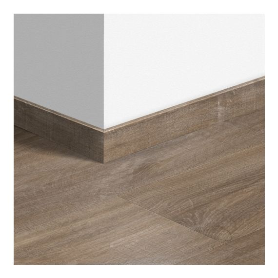 Quick-Step Livyn Waterproof Skirting Boards Canyon Oak Dark Brown With Saw Cuts