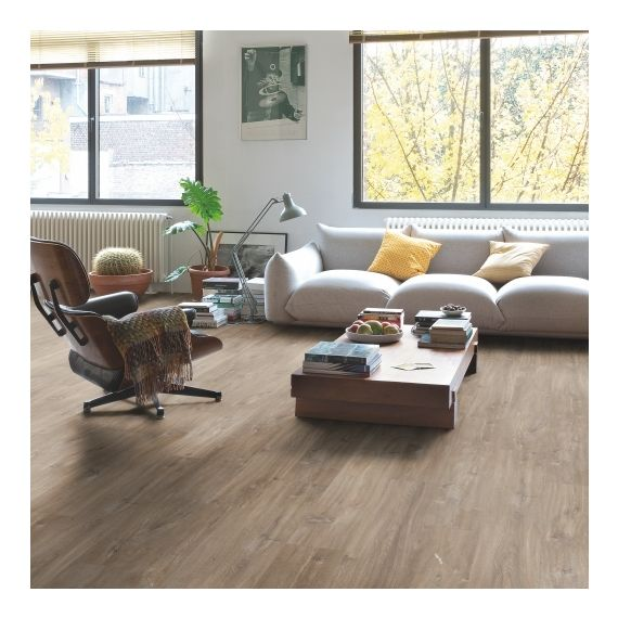 Quick Step Livyn Balance Plus Click Canyon Oak Dark Brown With Saw Cuts BACP40059 Luxury Vinyl Flooring