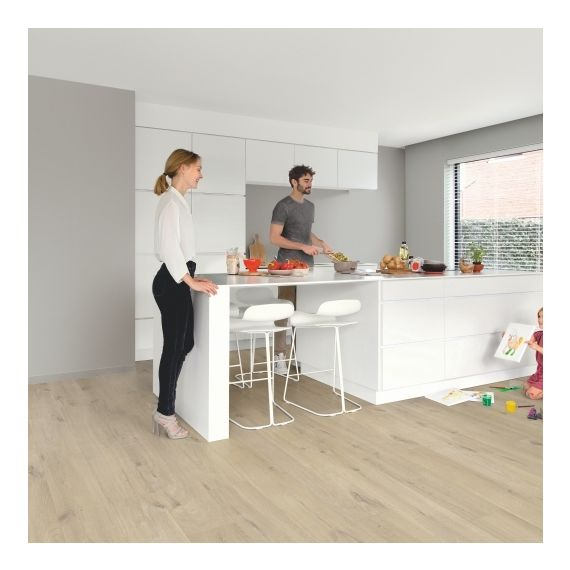 Quick Step Flooring Livyn Pulse Click Cotton Oak Beige PUCL40103 Luxury Vinyl Flooring
