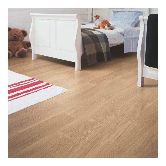 Quick-Step Flooring Eligna White Varnished Oak Planks EL915 Laminate Flooring