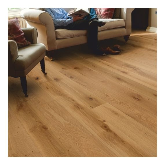 Elka Real Wood Engineered Flooring 14mm Rustic Oak Brushed & Oiled