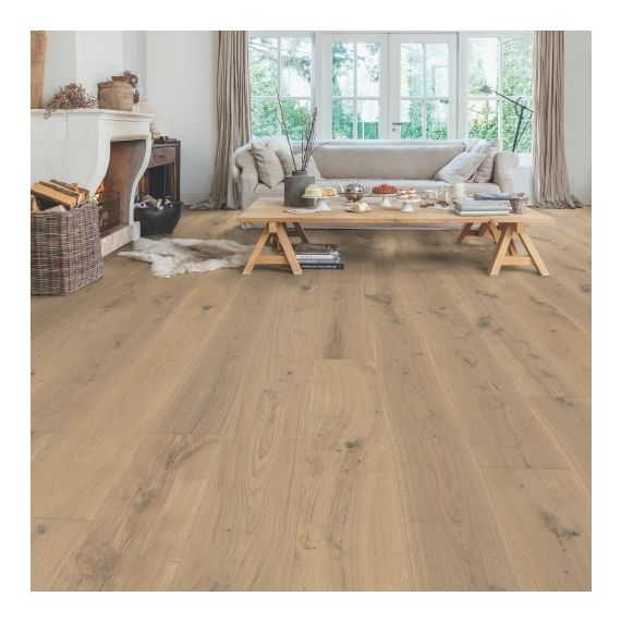Quick-Step Flooring Parquet Massimo Cappuccino Blonde Oak Extra Matt