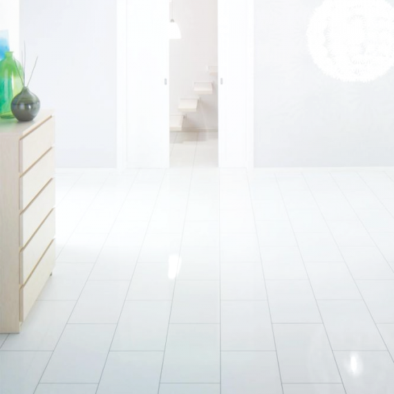 Elesgo Supergloss Brilliant Life Arctic White Laminate Flooring