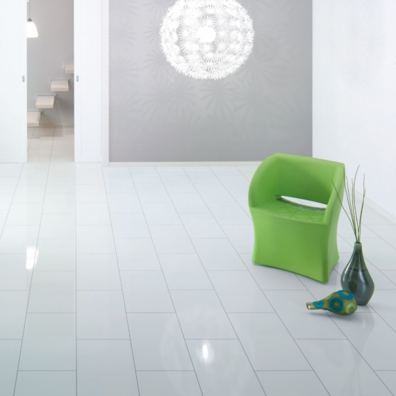 Elesgo Supergloss White Brilliant Life Laminate Flooring
