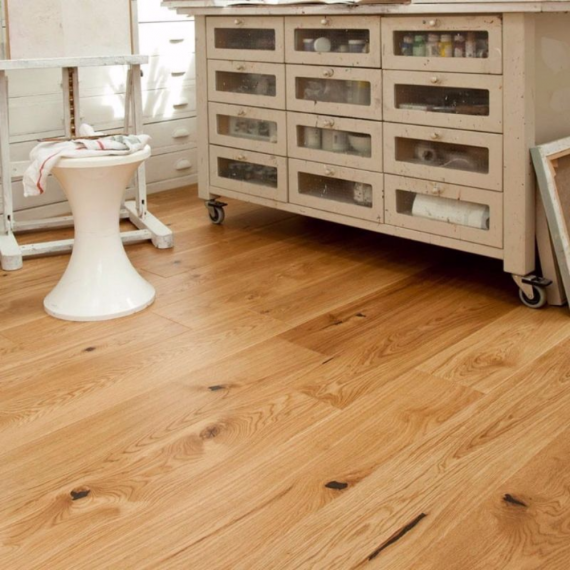 Elka 20mm Rustic Oak Lacquered T&G Engineered Wood Flooring