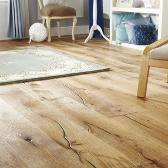 Engineered Wood Flooring Antique Distressed Natural Oak Oiled 220mm x 15mm Chene