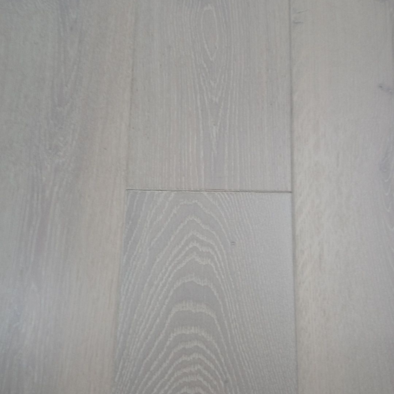 Real Wood Engineered Flooring 20mm White Lacquered Brushed Oak 190mm