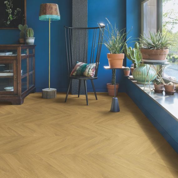 Quick Step Impressive Patterns Chevron Oak Natural IPA4161 Laminate Flooring