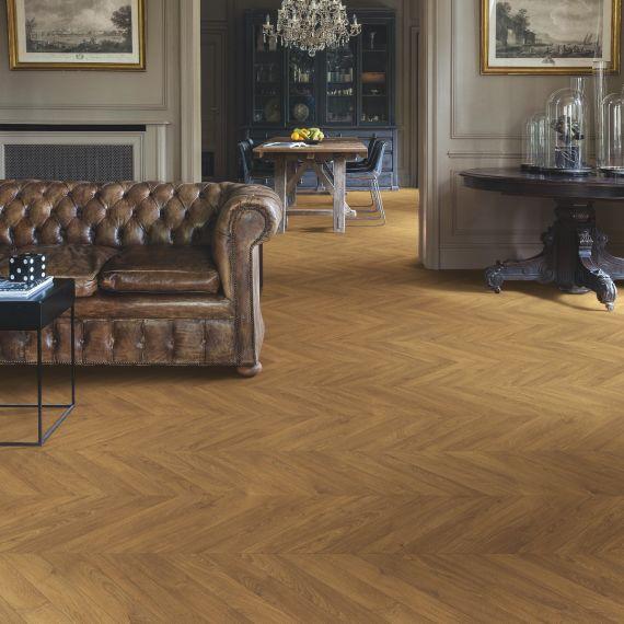 Quick Step Impressive Patterns Chevron Oak Brown IPA4162 Laminate Flooring