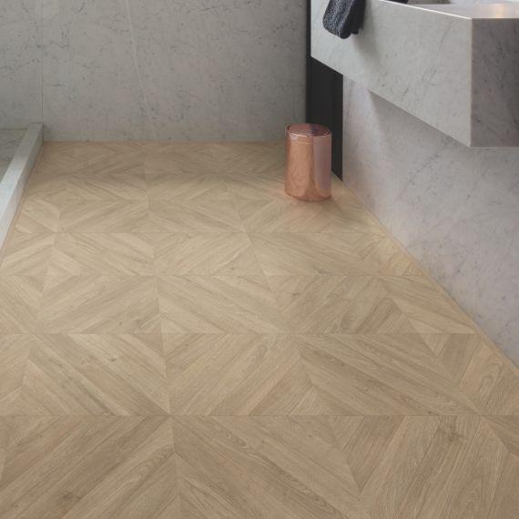 Quick Step Impressive Patterns Chevron Oak Taupe IPA4164 Laminate Flooring