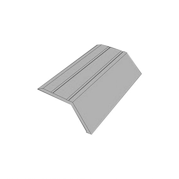 SELF ADHESIVE ANGLE EDGE MATT SILVER 14MM