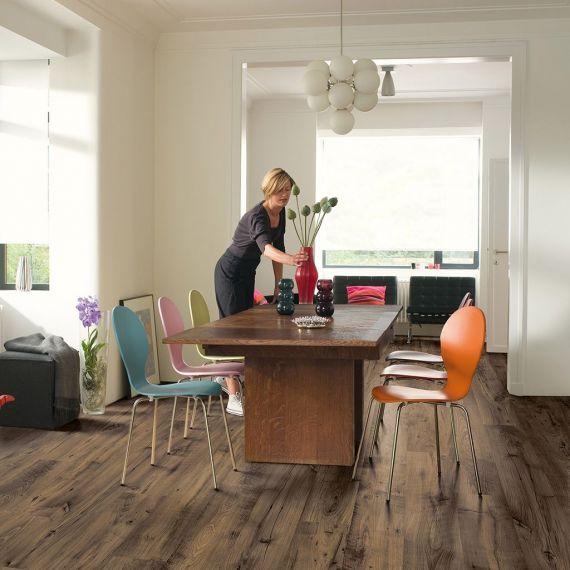 Quick-Step Eligna Wide Reclaimed Chestnut Brown Planks UW1544 Laminate Flooring