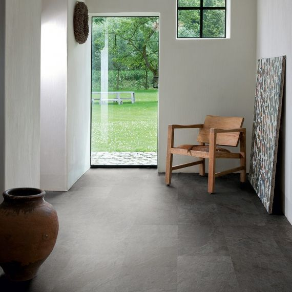 Quick Step Livyn Ambient CIick Black Slate AMCL40035 Luxury Vinyl Tiles