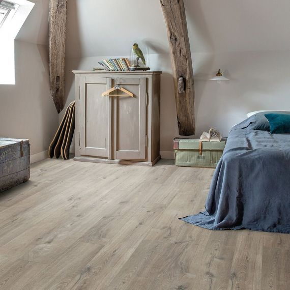Quick Step Livyn Pulse Click Cotton Oak Grey With Saw Cuts PUCL40106 Luxury Vinyl Flooring