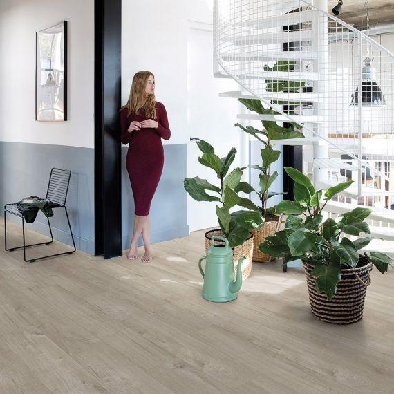 Quick Step Livyn Pulse Click Cotton Oak Warm Grey PUCL40105 Luxury Vinyl Flooring