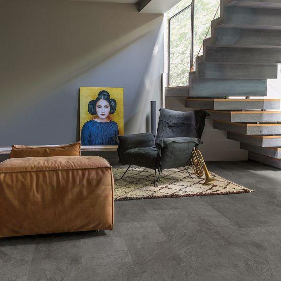 Quick Step Livyn Ambient CIick Grey Slate AMCL40034 Luxury Vinyl Tiles