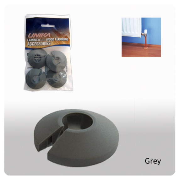 Unika Plastic Pipe Covers Grey 15mm