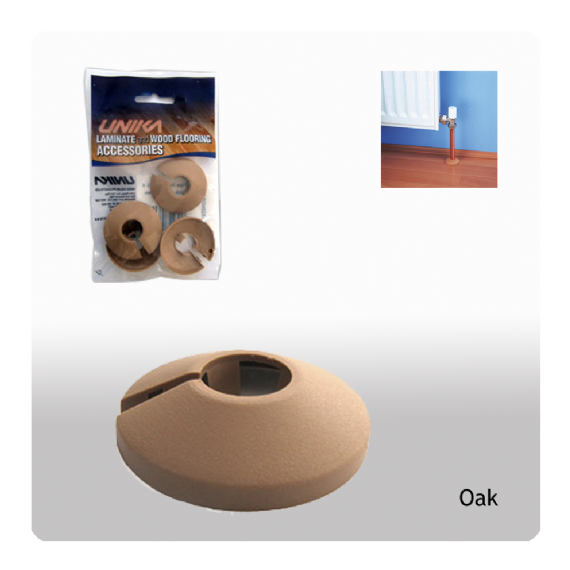Unika Plastic Pipe Covers Oak 15mm