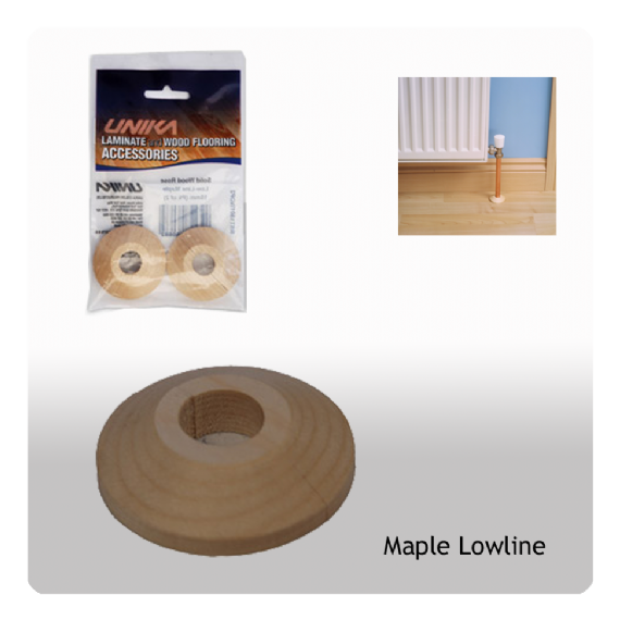 Unika Solid Wood Low Line Pipe Covers Maple