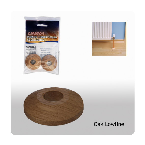 Unika Solid Wood Low Line Pipe Covers Oak