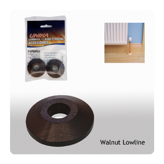 Unika Solid Wood Low Line Pipe Covers Walnut