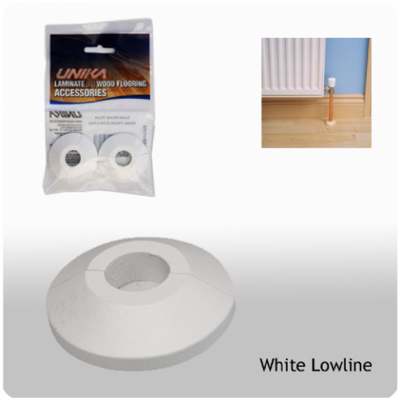 Unika Solid Wood Low Line Pipe Covers White