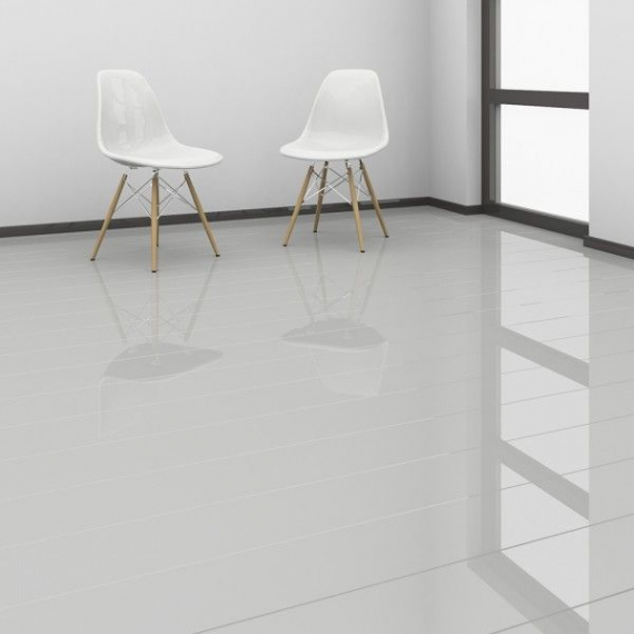 High Gloss Glamour Life Grey Elesgo Laminate Flooring SAMPLE