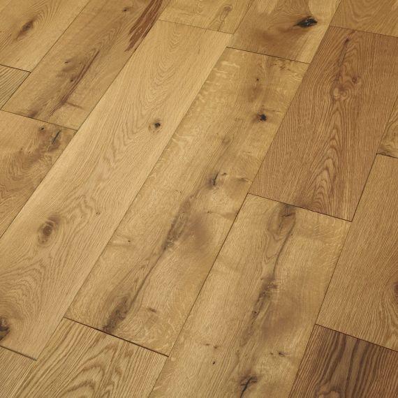 Engineered Wood Flooring Brushed Oiled Chene 125mm x 14mm