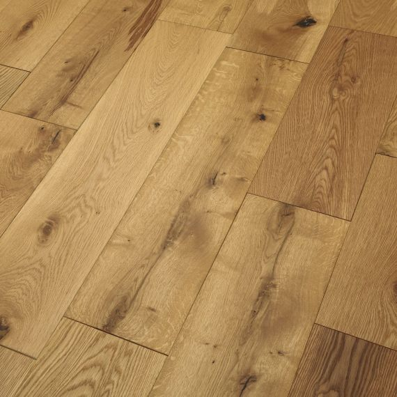 Real Wood Engineered Flooring 14mm Brushed & Oiled Oak 190mm