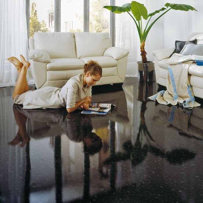 Elesgo Supergloss Shiny Life Black Pearl Laminate Flooring Lfdirect