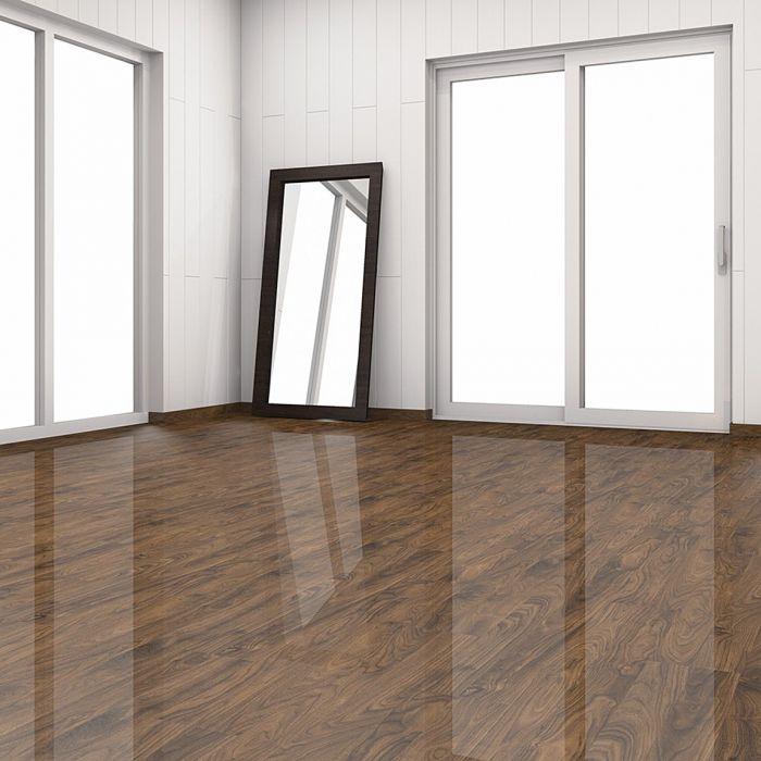 Black Walnut Elesgo Laminate Flooring, Elesgo High Gloss Laminate Flooring