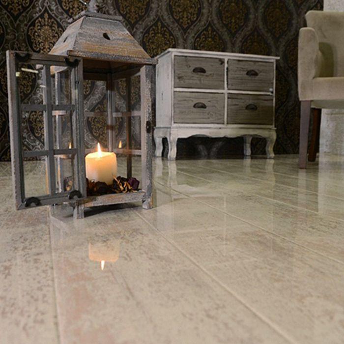 Elesgo Supergloss Glamour Life Antique White Laminate Flooring