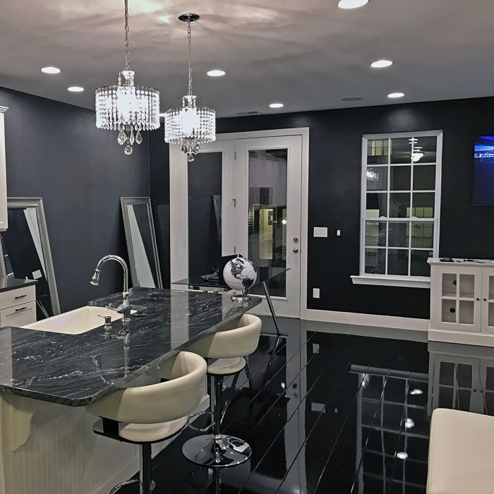Elesgo Supergloss Glamour Life Black Laminate Flooring Lfdirect